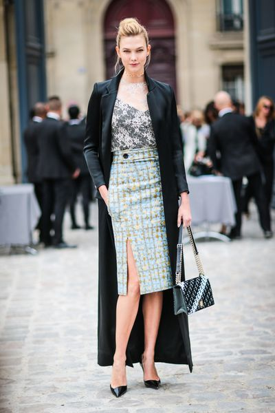 Karlie Kloss at Christian Dior, Paris Fashion Week