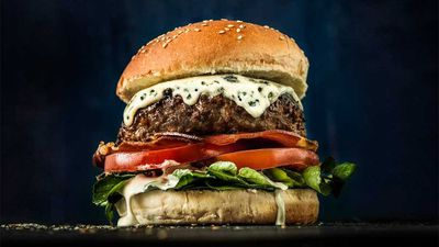 "Recipe:&nbsp;<a href=""http://kitchen.nine.com.au/2016/09/14/14/22/blue-cheese-beef-burger-with-creamy-mushroom-sauce"" target=""_top"">Beef burger with blue cheese, pancetta and creamy mushroom sauce<br /> </a>"