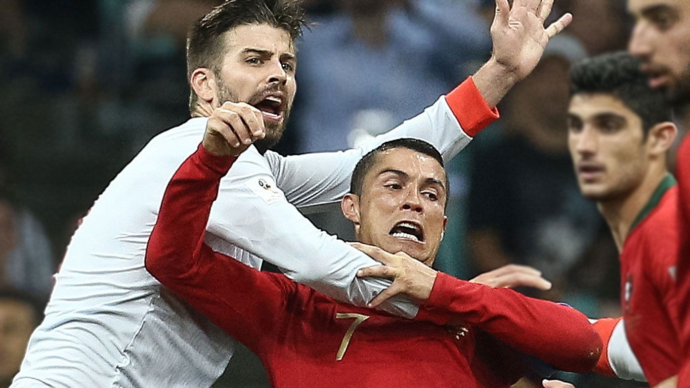 World Cup 2018: Spain defender Pique says Cristiano Ronaldo 'prone to diving'
