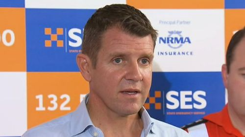 NSW Premier Mike Baird said he is the commissioner's number one fan. (9NEWS)