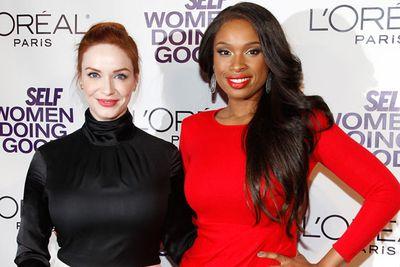 Christina Hendricks and Jennifer Hudson at SELF Magazine's 4th Annual Women Doing Good Awards in New York.