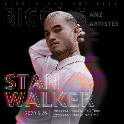 Stan Walker, BIGO, livestream, concert, promo photo
