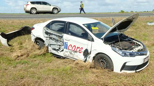 Police allege the 26-year-old Bundaberg Man was involved in a single-vehicle crash this morning just before 9 am. He's then alleged to have fled the scene in a white holden sedan.