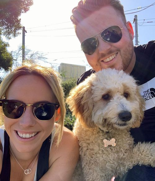 Lucy Crisp and her partner have lived in Melbourne for five years but no have no idea when they will be able to return from the UK.