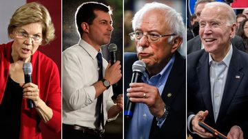 Elizabeth Warren, Pete Buttigieg, Bernie Sanders and Joe Biden are competing for the Democratic presidential nomination.