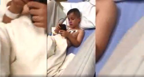 The five-year-old in hospital after suffering seizures during a trick-or-treat event in Ohio.