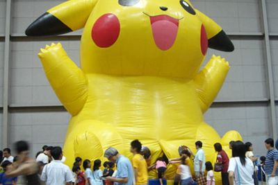 This huge inflatable at the 2007 Pokémon Festa in Japan helped parents answer that difficult question about where Pikachu babies come from.