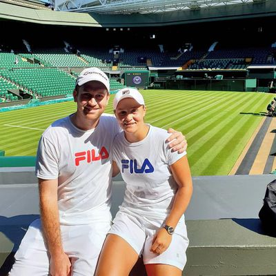 Ashleigh Barty and Garry Kissick
