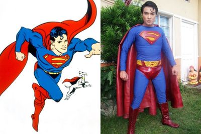 "Filipino fashion designer Herbert Chavez has had had a nose job modeled on actor Christopher Reeve, a chin augmentation to give him a cleft, and thigh implants to make his legs appear more muscular – all to look like his hero Superman. ""I am happy as Superman,"" Chavez says, ""and happier still to have Filipinos realise that Superman lives in the Philippines, and they can see and talk to him in the flesh."""