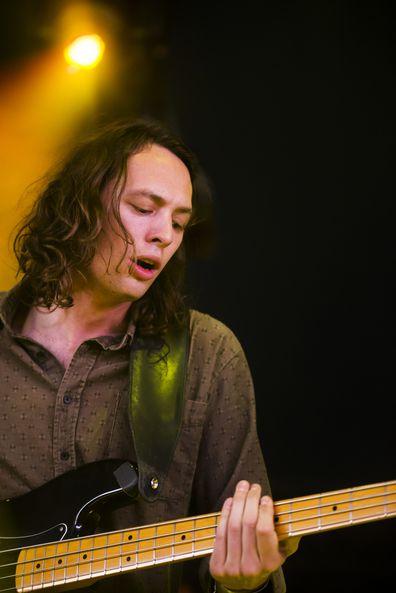 Nick Weaver of Deep Sea Arcade performs on stage on Day 1 of Lowlands Festival 2013 at Evenemententerrein Walibi World on August 16, 2013 in Biddinghuizen, Netherlands.
