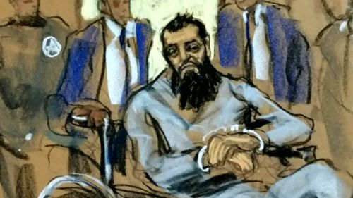 Sayfullo Saipov in a courtroom sketch.