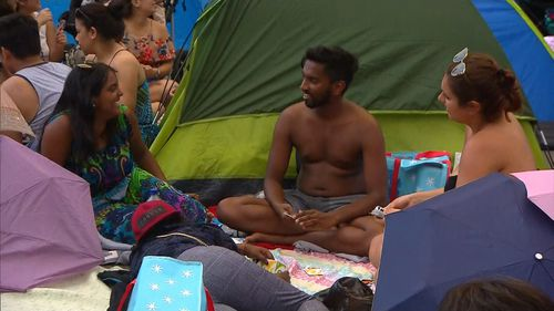 """Those camping out insist; """"It's worth it."""""""