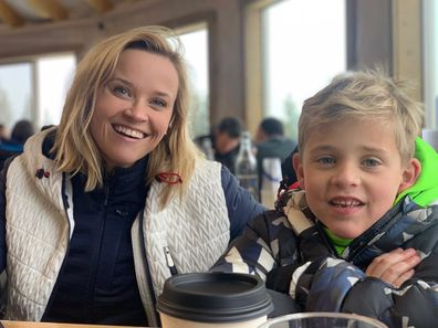 Reese Witherspoon with son Tennessee Toth.
