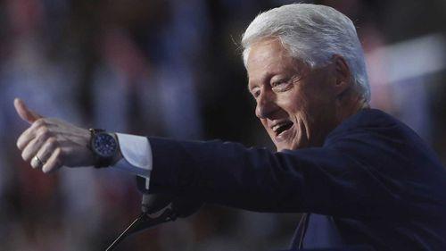 Bill Clinton at the DNC. (AP)
