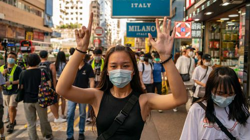 Hong Kong locals have been agitating for greater freedoms, as China seeks to tighten its hold on the territory.