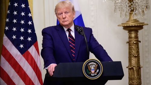The president was unhappy at repeated questioning over the impeachment inquiry.