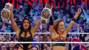 Aussie wrestlers Peyton Royce and Billie Kay make history at Wrestlemania
