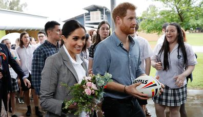 Prince Harry, Duke of Sussex and Meghan, Duchess of Sussex visit students from Dubbo College Senior Campus