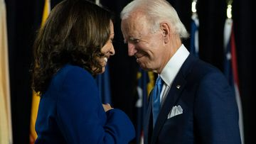 Biden shares a smile with his running mate