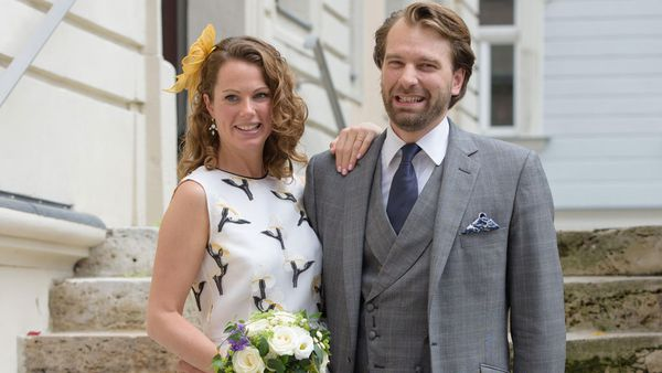 Prince Georg-Constantin of Saxe-Weimar-Eisenach with his wife, Olivia Rachelle Page