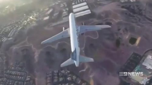 The plane was carrying around 180 passengers at the time. (9NEWS)