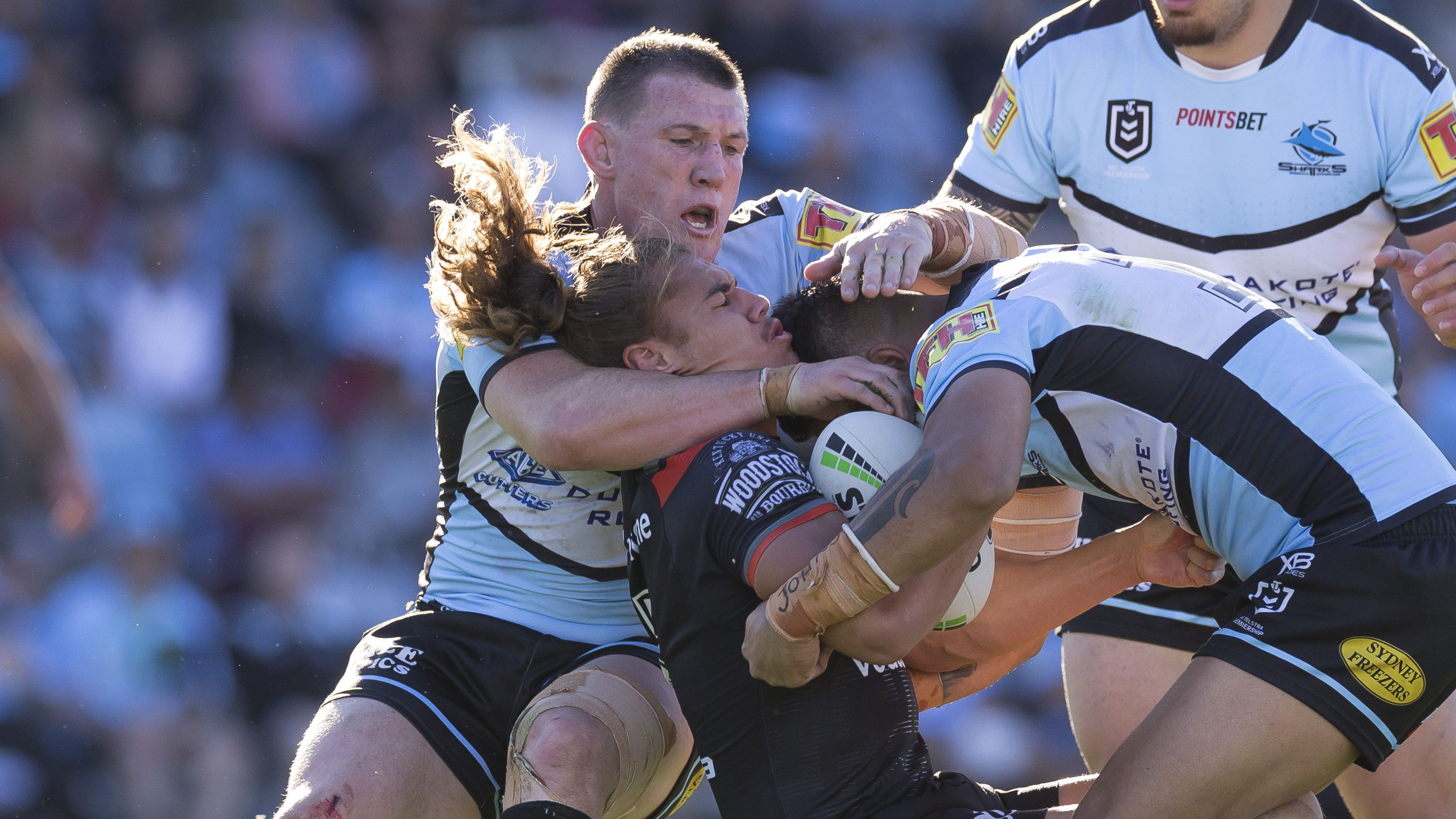 Andrew Fifita helps Sharks flex NRL finals muscle with rampaging display