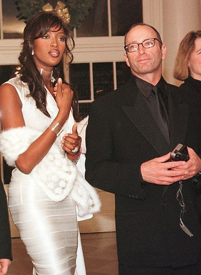 Supermodel Naomi Campbell with Herb Ritts at the White House December 14, 2000