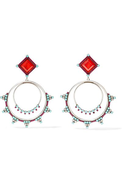 "<a href=""https://www.net-a-porter.com/au/en/product/675798/DANNIJO/ubaldo-oxidized-silver-plated-swarovski-crystal-and-resin-earrings"" target=""_blank"">Earrings, $334, Dannijo at net-a-porter.com</a>"