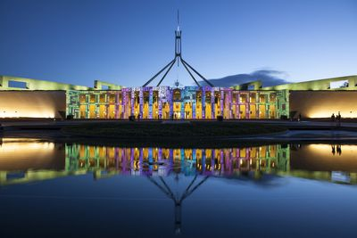 Our Parliament House is shaped like a boomerang
