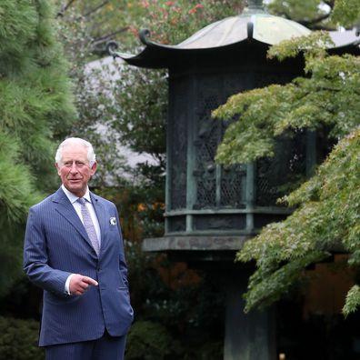 Prince Charles in Japan, October 2019.