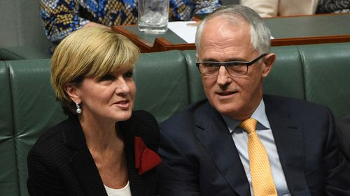 Julie Bishop tells party faithful in Victoria PM Turnbull 'a breath of fresh air'