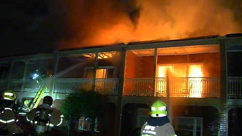 Four of six units were damaged in the fire. (9NEWS)