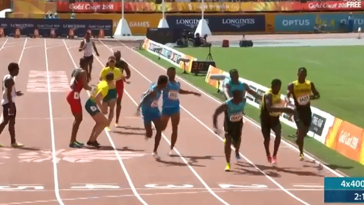 Australia disqualified in 4x400 relay