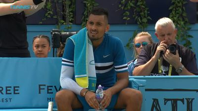 Nick Kyrgios fined over lewd act at Queen's Club championships