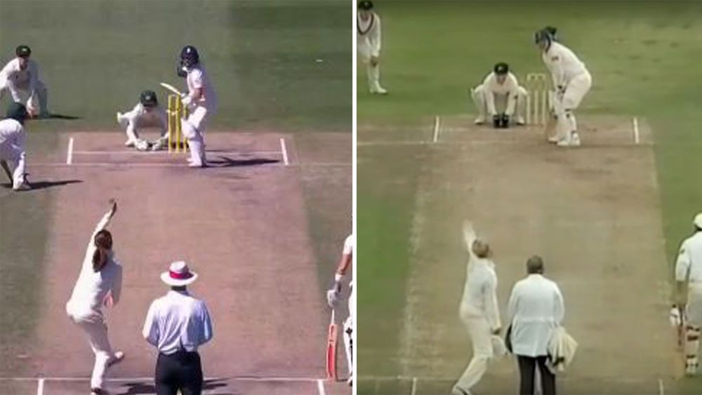 Amanda Wellington channels Shane Warne to dismiss Tammy Beaumont in women's Ashes Test match with perfect leg break