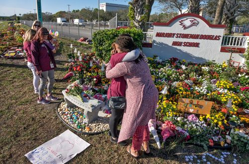 Hundreds of thousands across Florida have observed a moment of silence to mark the one-year anniversary of the deadly shooting at Marjory Stoneman Douglas High School in Parkland that killed 17 people.