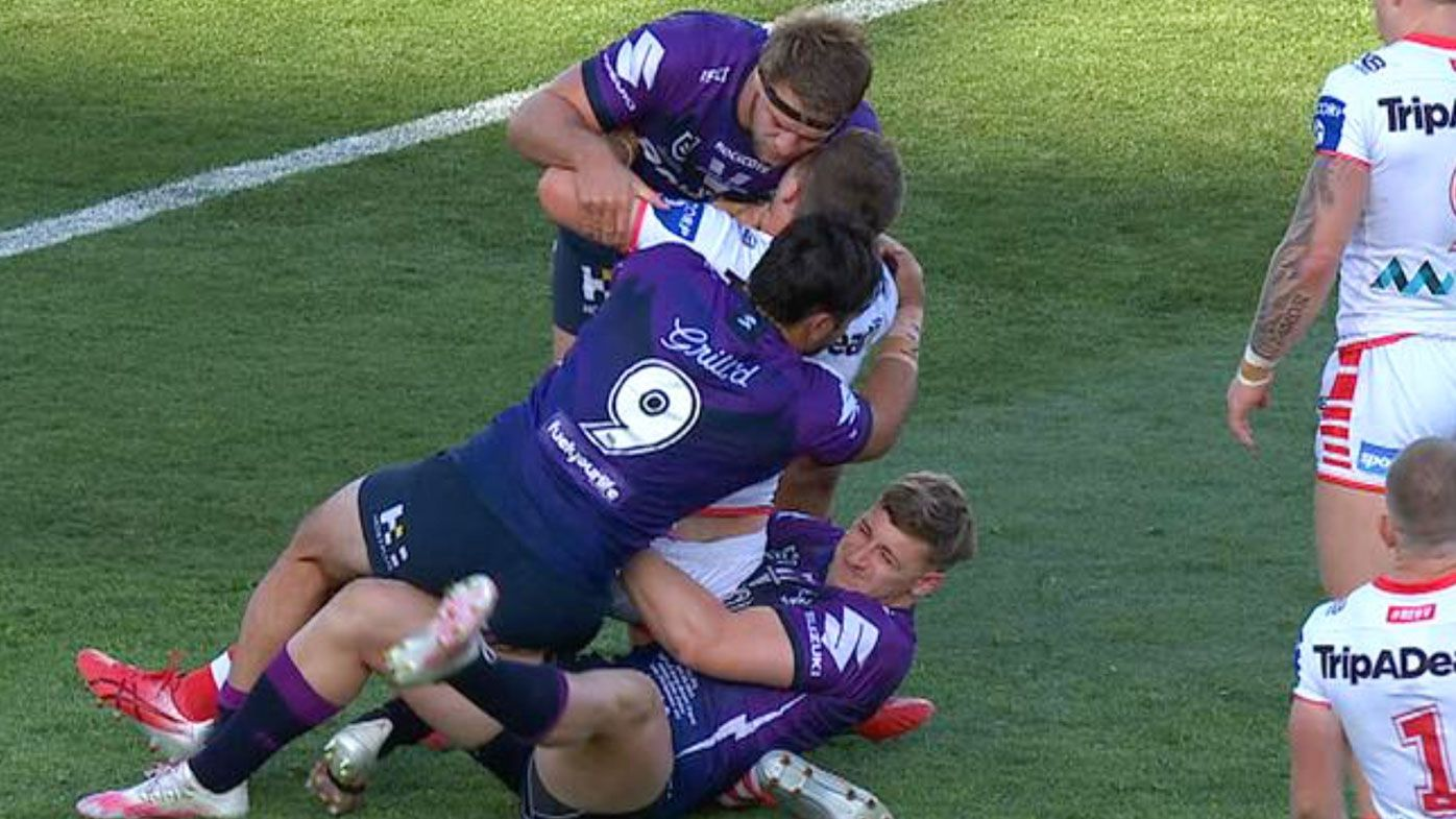 Storm forward Max King banned three games over hip drop tackle will miss finals – Wide World of Sports