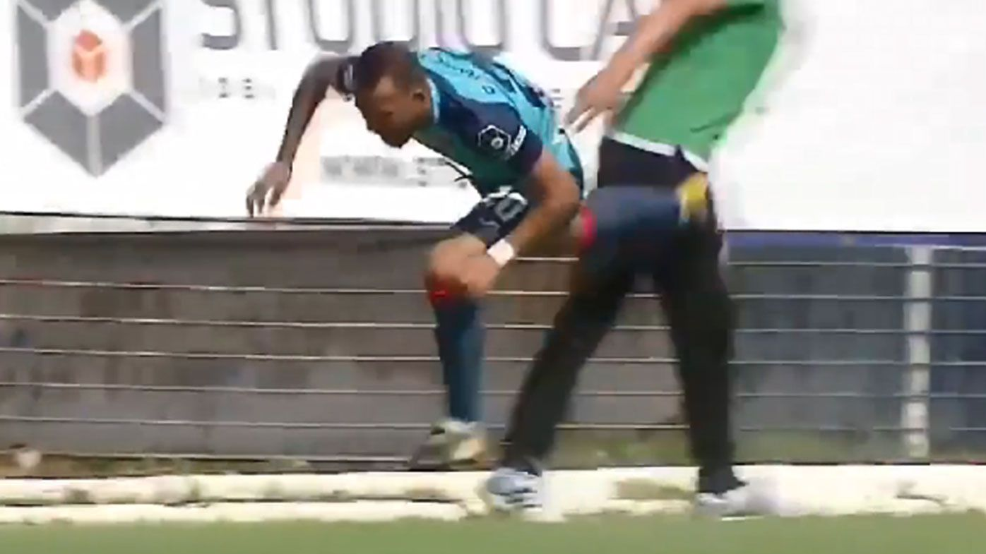 Romanian second division football coach sent off after dirty trip on opposing player