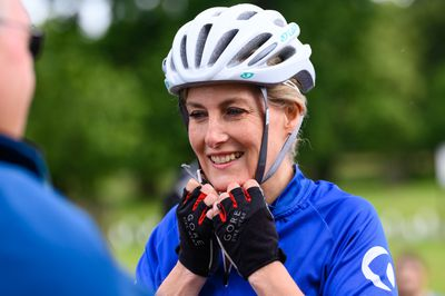 Sophie, Countess of Wessex joins charity bike ride, July 2021