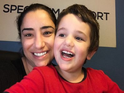 Kathrine Spectrum Support with her son Joshua.