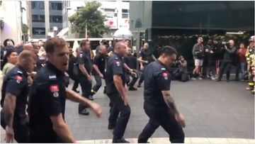 Firefighters in New Zealand performed a hair-raising, powerful haka in tribute to first responders in in the September 11 terror attacks.