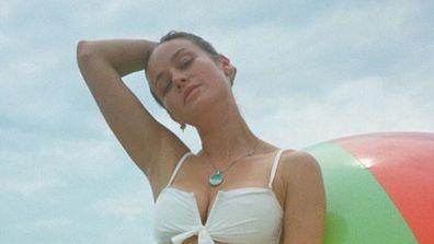 Brie Larson, bikini, photo, Instagram, beach, beach ball