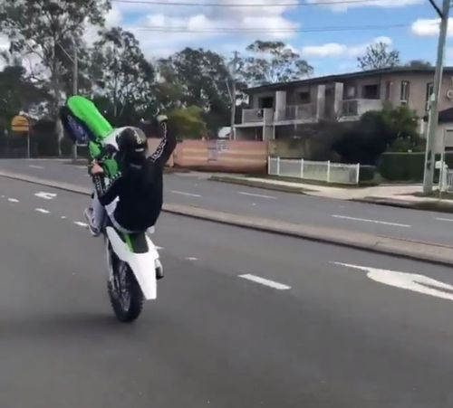 Police are hoping to find the man riding the motorbike. Picture: NSW Police