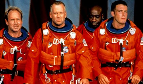 Bruce Willis in the 1998 Hollywood movie Armageddon.