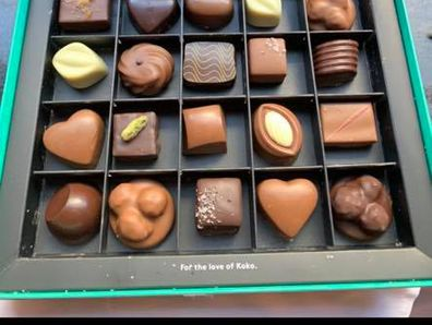 Another delivery, this time a box of chocolates.