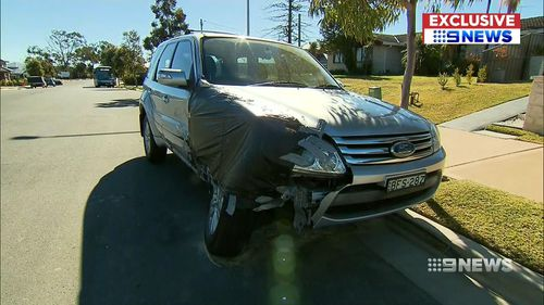 """Rosina Edeling's parked car was left written off in the carnage. She told 9NEWS """"I wanted to cry"""". Picture: 9NEWS"""