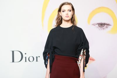 Lindsey Wixson at the launch of Dior - The Art of Colour.