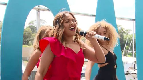 Jessica Mauboy sang at the event.