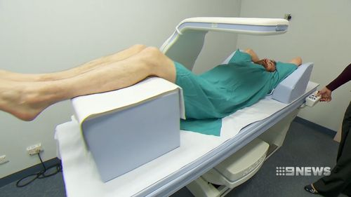 Bone density scans could also indentify a person's risk of heart disease. Picture: 9NEWS