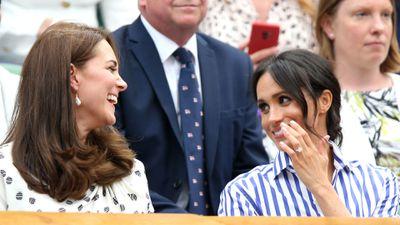Kate and Meghan's friendship: Wimbledon, July 2018.
